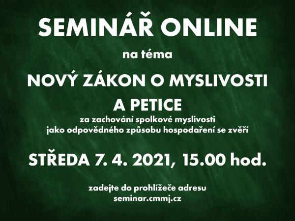 Online seminář k novela zákona